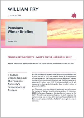 Pensions Winter Briefing