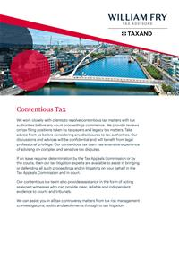 Contentious Tax Brochure - July 20191