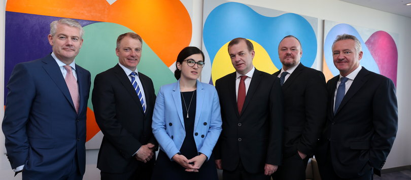 Paul Finnerty, ABP Food Group, Hugh Kelly, Irish Exporters Association, Ana Boata, Euler Hermes; Simon McKeever, Irish Exporters Association, Dermot Curran, Department of An Taoiseach and Bryan Bourke, William Fry